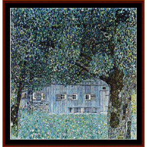Lakeside with Birch Trees III - Klimt cross stitch pattern by Cross Stitch Collectibles | Crafting | Cross-Stitch | Wall Hangings
