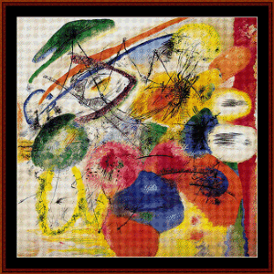 Black Strokes, 1913 - Kandinsky cross stitch pattern by Cross Stitch Collectibles | Crafting | Cross-Stitch | Wall Hangings