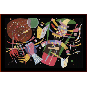 Composition X, 1939 - Kandinsky cross stitch pattern by Cross Stitch Collectibles | Crafting | Cross-Stitch | Wall Hangings