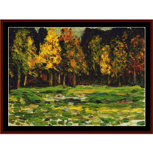Forest Edge - Kandinsky cross stitch pattern by Cross Stitch Collectibles | Crafting | Cross-Stitch | Wall Hangings
