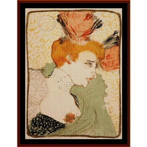 Marcelle Lender, 1895 - Lautrec cross stitch pattern by Cross Stitch Collectibles | Crafting | Cross-Stitch | Wall Hangings