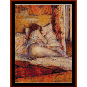 The Bed, 1898 - Lautrec cross stitch pattern by Cross Stitch Collectibles | Crafting | Cross-Stitch | Wall Hangings