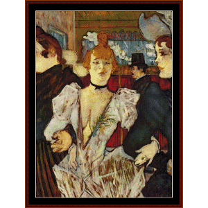 Goule Arriving at Moulin Rouge - Lautrec cross stitch pattern by Cross Stitch Collectibles | Crafting | Cross-Stitch | Wall Hangings