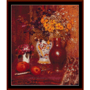 Flowers and Apples - Lemmen cross stitch pattern by Cross Stitch Collectibles | Crafting | Cross-Stitch | Wall Hangings