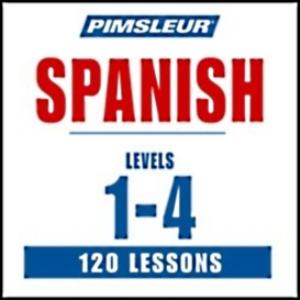 pimsleur spanish i, ii, iii, & iv - 120 mp3 lessons w/ bonus material
