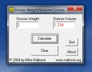 honey weight volume convertor
