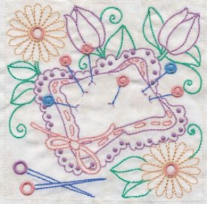 sewing in stitches machine embroidery 6x6 pes