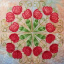 Tulips Filigree Machine Embroidery 5x5 - DST | Crafting | Embroidery