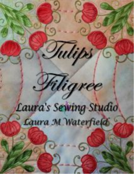First Additional product image for - Tulips Filigree Machine Embroidery 4x4 - HUS