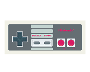 gamepad nintendo vector illustration