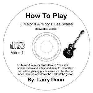 g major & a minor blues scales