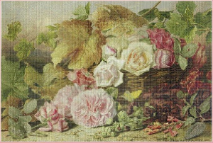 Peonies (pivonky) | Crafting | Cross-Stitch | Other