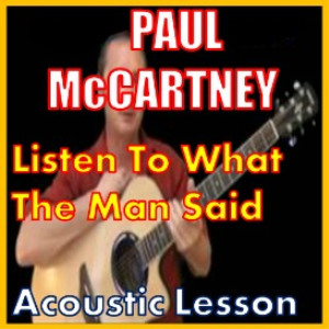 learn to play listen to what the man said by paul mccartney