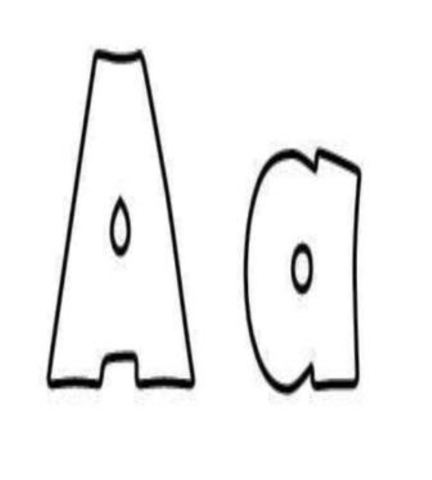 First Additional product image for - ABC Alphabet Letters Flash Card Coloring Book Wall Decor (Printable)