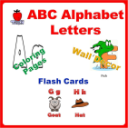 ABC Alphabet Letters Flash Card Coloring Book Wall Decor (Printable) | eBooks | Education