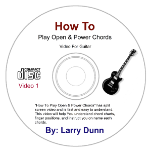 how to play open & power chords for guitar