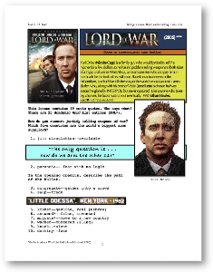 LORD OF WAR, Whole-Movie English (ESL) Lesson | eBooks | Education