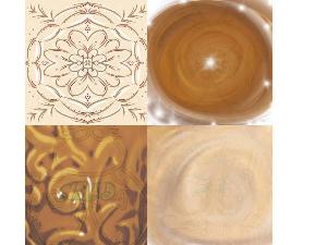 brown digital paper combo