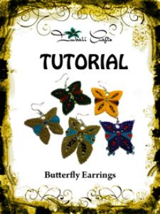 tutorial - butterfly earrings - macrame earrings -boho earrings - dangle earrings