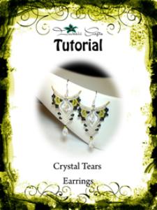 tutorial - crystal tears - macrame earrings -boho earrings - dangle earrings