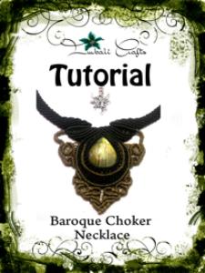 tutorial - black boho macrame necklace - labradorite baroque choker - natural gemstone necklace