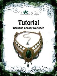tutorial - olive green baroque necklace - malachite baroque choker - natural gemstone necklace