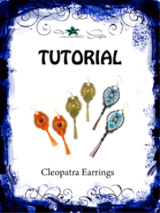 tutorial - micro macrame cleopatra earrings