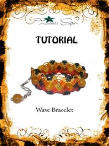 tutorial - micro macrame wave bracelet pattern