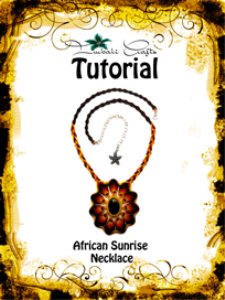 tutorial - african sunrise necklace -tigers eye pendant necklace pattern - natural gemstone necklace