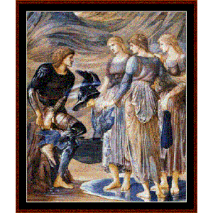 Perseus and the Sea Nymphs - Burne-Jones cross stitch pattern by Cross Stitch Collectibles | Crafting | Cross-Stitch | Wall Hangings