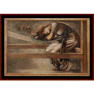 Study for the Garden Court - Burne-Jones cross stitch pattern by Cross Stitch Collectibles | Crafting | Cross-Stitch | Wall Hangings