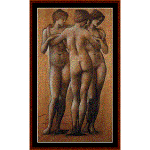 The Three Graces - Burne-Jones cross stitch pattern by Cross Stitch Collectibles | Crafting | Cross-Stitch | Wall Hangings