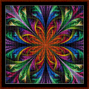 Fractal 483 cross stitch pattern by Cross Stitch Collectibles | Crafting | Cross-Stitch | Wall Hangings