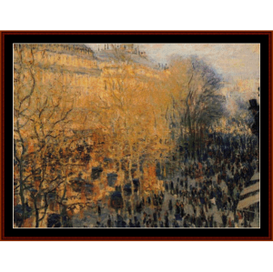 Boulevard des Capucines II - Monet cross stitch pattern by Cross Stitch Collectibles | Crafting | Cross-Stitch | Wall Hangings