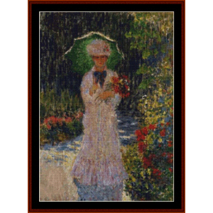 Camille with Parasol - Monet cross stitch pattern by Cross Stitch Collectibles | Crafting | Cross-Stitch | Wall Hangings