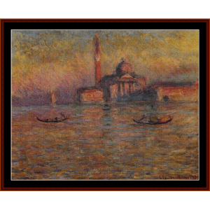 San Giorgio Maggiore, 1908 - Monet cross stitch pattern by Cross Stitch Collectibles | Crafting | Cross-Stitch | Wall Hangings