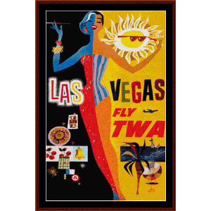 Las Vegas - Vintage Poster cross stitch pattern by Cross Stitch Collectibles | Crafting | Cross-Stitch | Wall Hangings