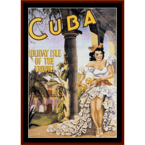 Cuba - Vintage Poster cross stitch pattern by Cross Stitch Collectibles | Crafting | Cross-Stitch | Wall Hangings