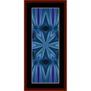 fractal 481 bookmark cross stitch pattern by cross stitch collectibles