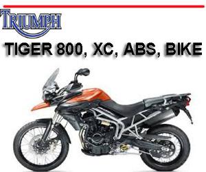 triumph tiger 800 xc abs bike workshop service repair + owner's manual