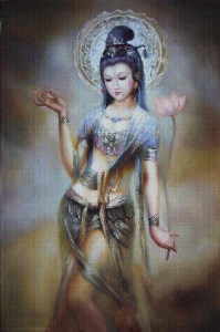 Goddess with the lotus (Bohyne s lotosem) | Crafting | Cross-Stitch | Religious