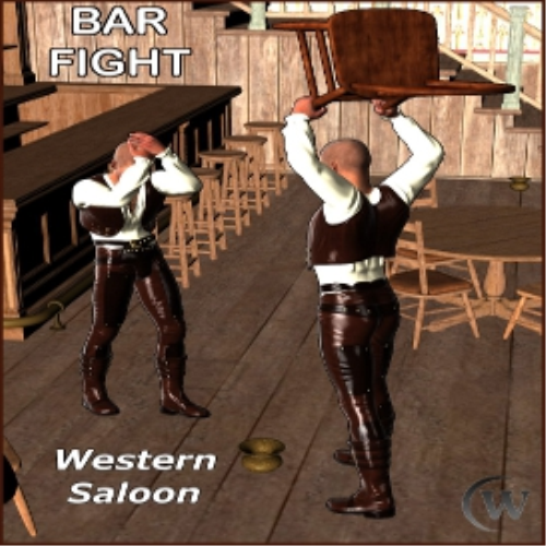 Third Additional product image for - BAR FIGHT Poses for Genesis 2 Male(s)