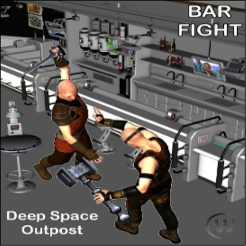 Fourth Additional product image for - BAR FIGHT Poses for Genesis 2 Male(s)