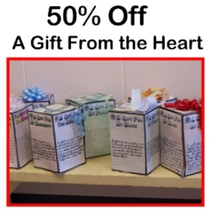 50% Off Gift From the Heart 3D Box | Documents and Forms | Templates
