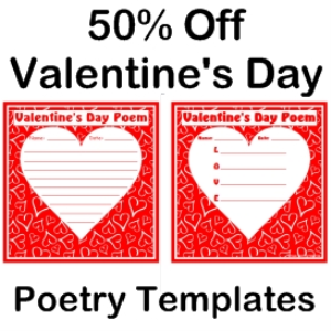 50% Off Valentine's Day Poem Set | Documents and Forms | Templates