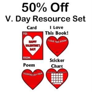 50% off valentine's resource set