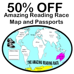 50% off amazing reading race passports and maps