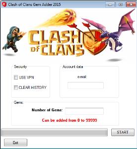 clash of clans gems adder