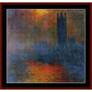 Houses of Parliament, London Monet cross stitch pattern by Cross Stitch Collectibles | Crafting | Cross-Stitch | Wall Hangings