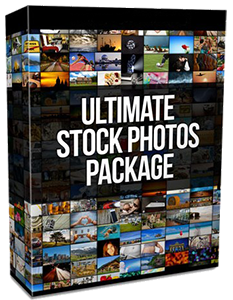 ultimate stock photos package w/resale rights